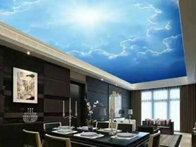 Stretch Ceiling for Residence ,bluesky ,uv printed